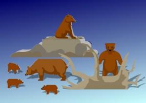 Bastelbogen Bären