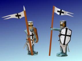 Bastelartikel Spielzeug Ritterfiguren Deutscher Orden