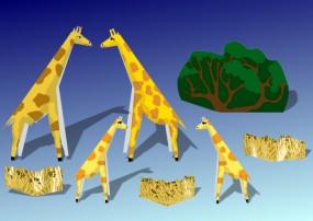 Bastelbogen Giraffen