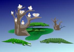 Bastelbogen Krokodile