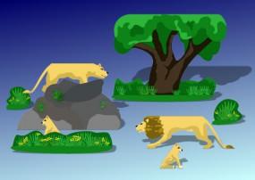 Bastelbogen Löwen