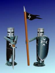 Bastelartikel Spielzeug Ritterfiguren Johanniter Orden