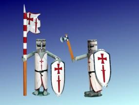 Bastelartikel Spielzeug Ritterfiguren Schwertbruder Orden