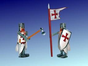 Bastelartikel Spielzeug Ritterfiguren Templer