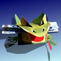 Bastelbogen Frosch