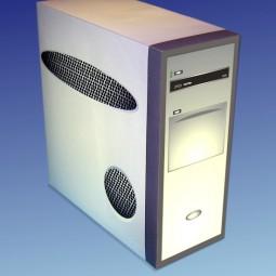 Bastelbogen Computer