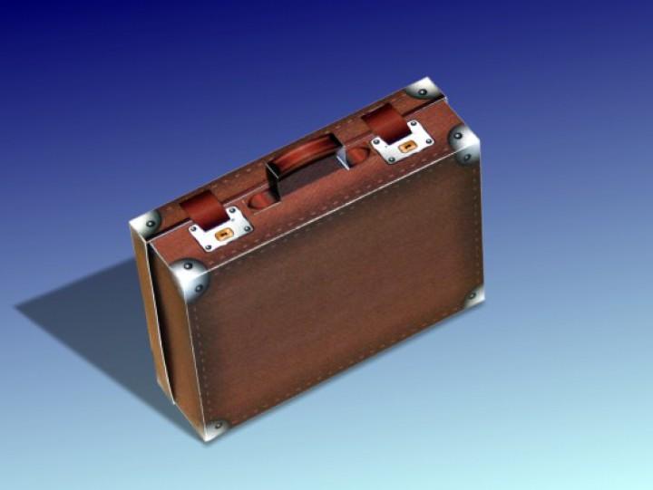 bastelbogen koffer