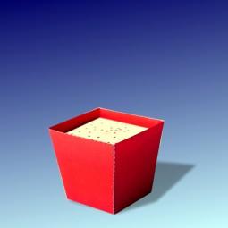 Papierblume Blumentopf Rot