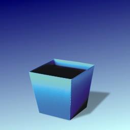 Papierblume Blumentopf Blau