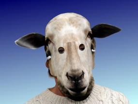 Tiermaske Weißes Schaf