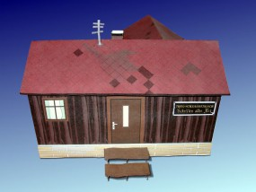 Bastelartikel Papierhaus Baracke