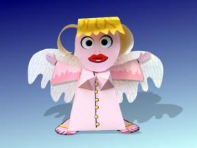 Bastelbogen Engel