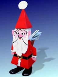 Bastelbogen Weihnachtsmann